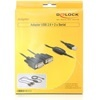 DELOCK USB - 2 x soros átalakító (2 x DB9) 1,4 m