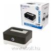 LogiLink USB 3.0-ás szuper sebességű dokkoló SATA merevlemezekhez fekete