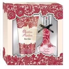 Christina Aguilera - Red Sin női 15ml parfüm szett kozmetikai ajándékcsomag
