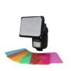Polaroid Universal Gel Soft Box diffúzor színes előtétekkel, rendszervakura