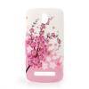 utángyártott Műanyag telefonvédő (virágmintás) FEHÉR [HTC Desire 500]