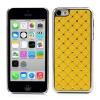utángyártott Műanyag telefonvédő (strasszkővel) SÁRGA [Apple iPhone 5C]