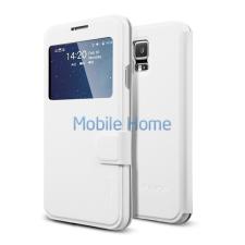 Spigen SGP Flip View Samsung Galaxy S5 Metallic White flip hátlap tok tok és táska