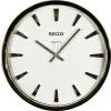 Secco Falióra, 30 cm, ragasztott percjelzők, SECCO, ezüst színű