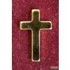 Kitűző - Kereszt, 13 mm, arany