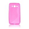 utángyártott Telefonvédő gumi / szilikon (S-line) RÓZSASZÍN [Samsung Galaxy Core 2 (SM-G355)]
