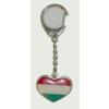 Kulcstartó - Nemzeti színű szív