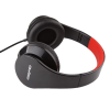 Qoltec Headphones + microphone   Black + red
