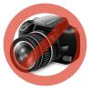 Muvit Apple iPhone 6 hátlap - Muvit MyFrame - black/transparent