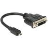 DELOCK HDMI micro D - DVI 24+5 kábel (20 cm)