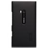 Nillkin Super Frosted érdes műanyag hátlaptok kijelzővédő fóliával Nokia Lumia 900-hoz fekete*