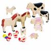 Goki Fa játék állat készlet, háziállatok