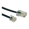 ISDN csatlakozókábel [1x RJ45 dugó 8p4c - 1x RJ11 dugó 6p4c] 10 m fekete Conrad