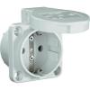PCE Védőérintkezős gép dugaszoló aljzat, 230 V/AC 16 A IP54, szürke, PCE 601.450.03