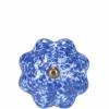Open bútorgomb 5cm kerámia kék