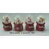 Rázógömb, karácsonyi figurákkal, zsákban (1db)