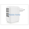 Haffner Univerzális USB hálózati töltő adapter 4 x USB - 5V/4A - fehér