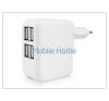 Haffner Univerzális USB hálózati töltő adapter 4 x USB - 5V/4A - fehér tablet kellék