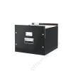 Leitz Irattároló doboz, függőmappának, lakkfényű, LEITZ Click&Store, fekete (E60460095)