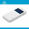 Rockphone ROCK UNI műanyag telefonvédő (FLIP, oldalra nyíló, hívószámkijelzés, S-View Cover) FEHÉR [Apple iPhone 6 Plus 5.5``]