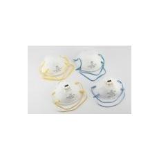 Csésze formájú FFP2-es maszk orrcsíptetővel és gumipánttal