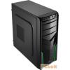 """Aerocool V2X Green Edition Black/Green Black/Green,2x5,25"""",2x3,5"""",ATX,2xUsb,Audio,Táp nélkül,405x175x410mm,1x2,5"""",Ventillátor:9,2cm,1xUSB3.0"""
