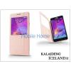 Kalaideng Samsung SM-N910 Galaxy Note 4 flipes tok - Kalaideng Iceland 2 Series View Cover - golden