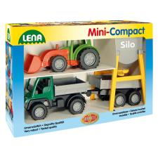 LENA Farm munkagép játékszett autópálya és játékautó