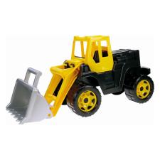 LENA Játék homlokrakodó munkagép autópálya és játékautó
