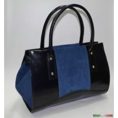 Kék olasz bőr kézitáska