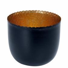delight mécsestartó fekete/arany 10cm dekoráció