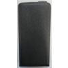 Telone Pocket Slim lefelé nyíló fényes bőrbevonatos fliptok LG D605 Optimus L9 2-höz fekete*