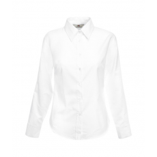 Fruit of the Loom FoL Lady-Fit Long Sleeve Oxford Shirt fehér