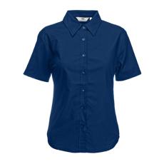 Fruit of the Loom FoL Ladies Oxford Short Sleeve Shirt sötétkék