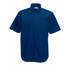 Fruit of the Loom FoL Short Sleeve Poplin Shirt, sötétkék