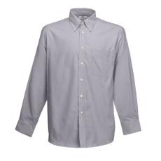Fruit of the Loom FoL Long Sleeve Oxford Shirt, oxfordszürke