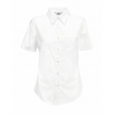 Fruit of the Loom FoL Lady-Fit Short Sleeve Poplin Shirt, fehér