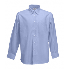 Fruit of the Loom FoL Long Sleeve Oxford Shirt, oxfordkék