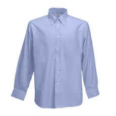 Fruit of the Loom FoL Long Sleeve Oxford Shirt, oxfordkék