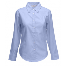Fruit of the Loom FoL Lady-Fit Long Sleeve Oxford Shirt oxfordkék