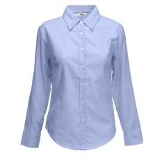 Fruit of the Loom FoL Lady-Fit Long Sleeve Oxford Shirt oxfordkék