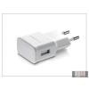 Samsung gyári USB hálózati töltő adapter - 5V/1A - ETA0U81EWE white (csomagolás nélküli)