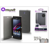 Made for Xperia MUVIT Sony Xperia M2 (D2305) flipes tok - Made for Xperia Muvit Ultra Slim Folio - grey