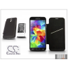 Cameron Sino Samsung SM-G900 Galaxy S5 hátlapos akkumulátor védőtokkal - Li-Ion 5600 mAh - fekete - X-LONGER