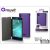 Made for Xperia MUVIT Sony Xperia T3 (D5103) flipes tok - Made for Xperia Muvit Ultra Slim Folio - lila