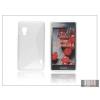 Haffner LG E460 Optimus L5 II szilikon hátlap - S-Line - clear