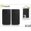 Muvit Huawei Ascend G526 flipes tok kártyatartóval - Muvit Slim and Stand - black