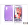 Haffner LG E460 Optimus L5 II szilikon hátlap - S-Line - lila