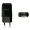 HTC TC E250 USB-s hálózati mini töltőadapter fekete*