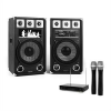 Electronic-Star STAR-12A aktív hangfalpár vezeték nélküli mikrofonokkal